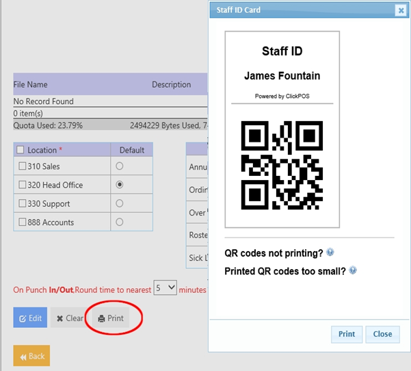 Web POS | iOS Timesheet | Timesheet (iOS App) – ClickPOS